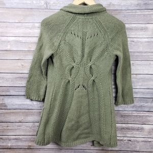 Angel of the North Anthropologie Green Sweater XS
